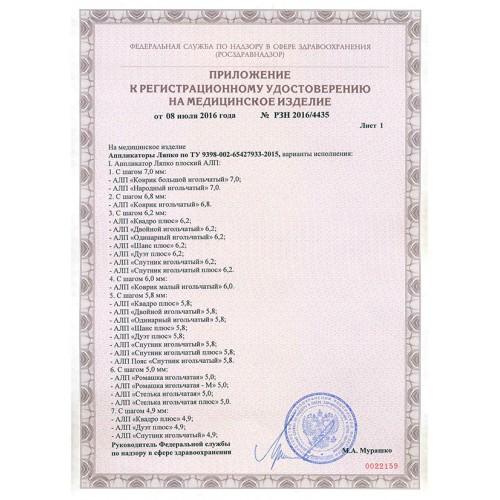 Приложение к регистрационному удостоверению на медицинское изделие АПЛ